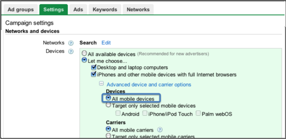 Adwords Supports the iPad