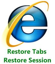 Restore Tabs Sessions Insternet Explorer