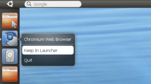 Ubuntu Netbook Unity - Chromium Browser
