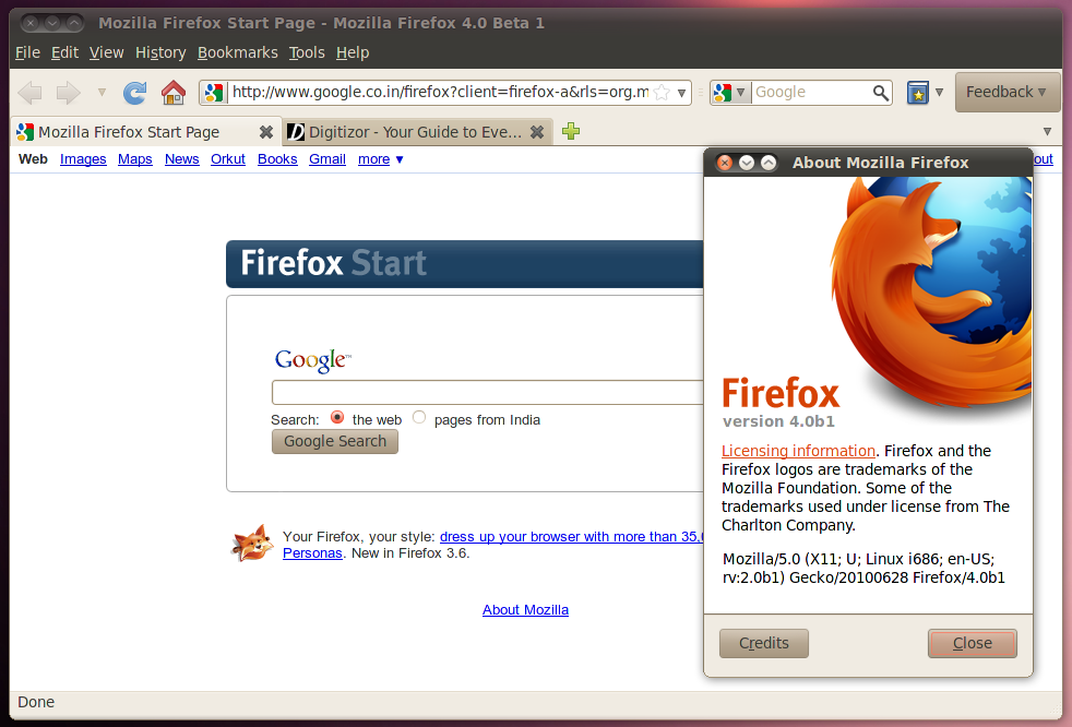 Review Of Firefox 4 0 Beta 1 For Linux
