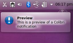 Colibri In KDE 4.5