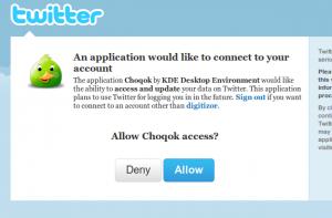 Choqok OAuth 4