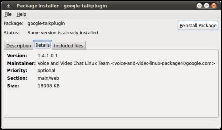GMail Videochat plugin installed in Ubuntu