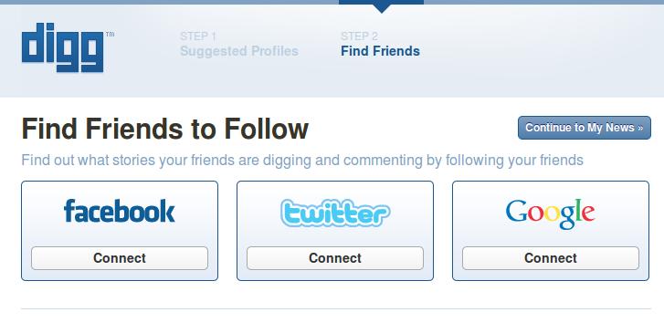 new digg follow friends