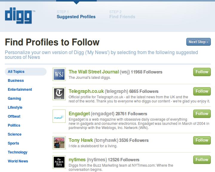 new digg follow profiles
