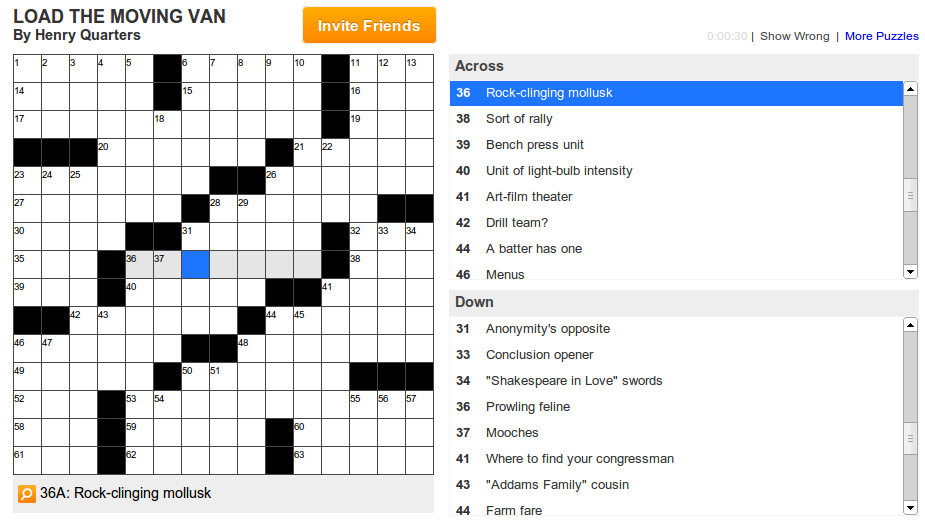 Teamcrossword.com - Crossword Game
