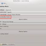 Disable The Automatic Suspension Of Desktop Effects In Kubuntu 10.10