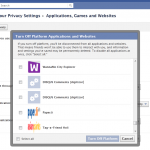 How To Disable All Applications From Your Facebook Account At Once?