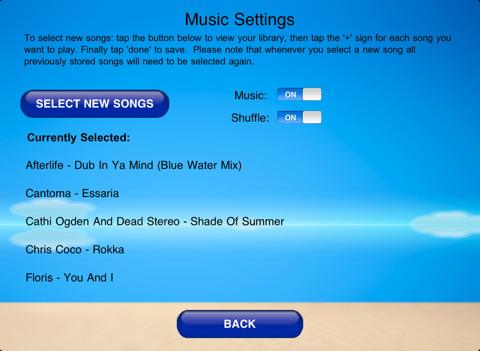 iPad Yoga App music settings