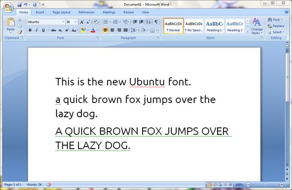 Use The Ubuntu Fonts In Windows