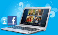 Skype 5 with integrated Facebook