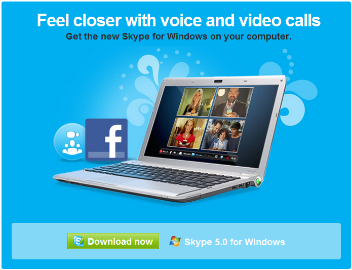 New Skype 5.0 integrated with Facebook