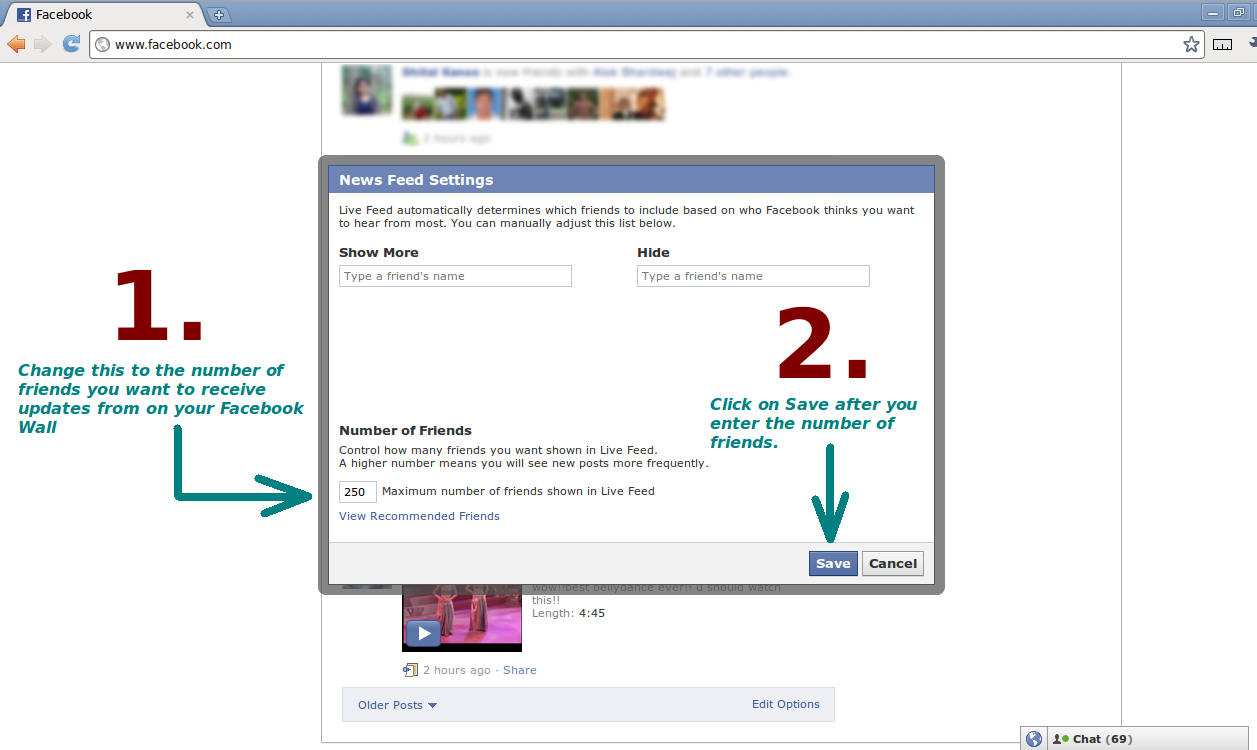 How To See / Hide Updates From All Friends On Your Facebook