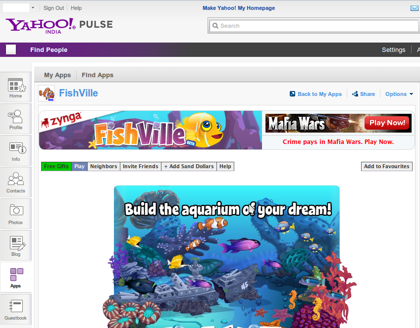 Fishville on Yahoo! Pulse