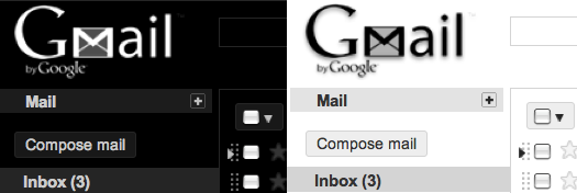 Basic White & Basic Black Gmail Theme