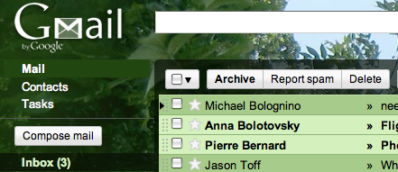 Tree Tops Gmail Theme