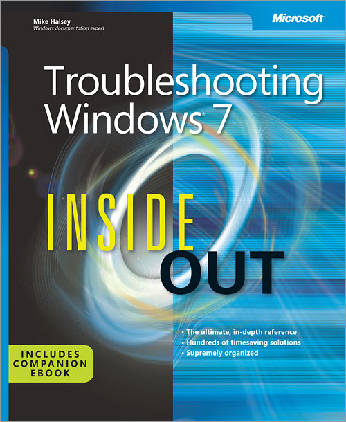 Book Cover - Troubleshooting Windows 7 [Inside Out]