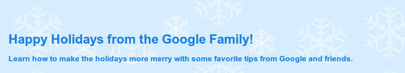 Google Holidays 2010 Tips