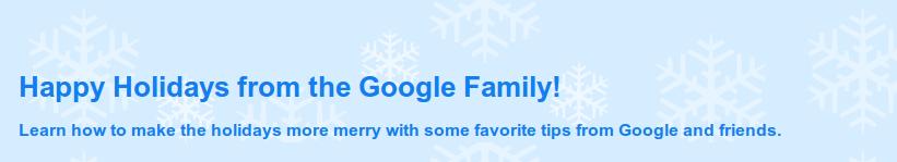 Google Holidays 2010 Tips