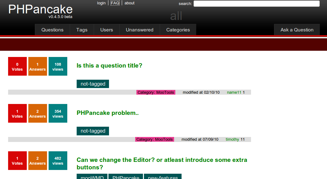 PHPancake Screenshot