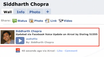 Voice Status Updates come to Facebook