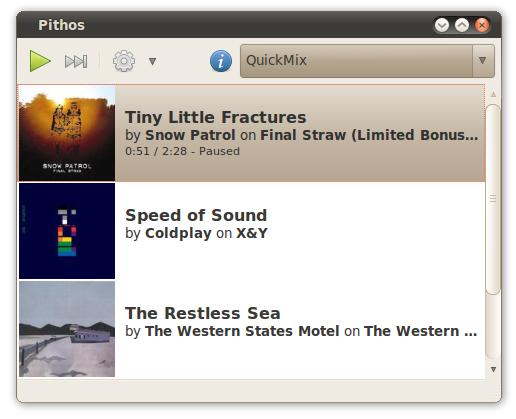 Pithos - Pandora.com Linux client: Screenshot