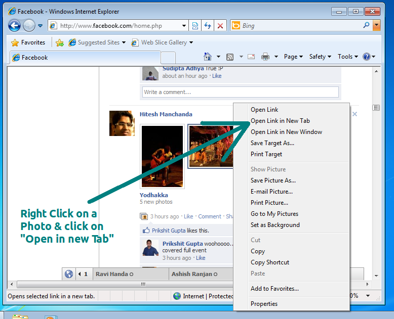 Disable Facebook Photo Viewer in Internet Explorer