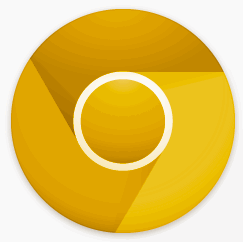 Google Chrome Canary Build - Golden Icon