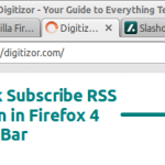 Get Back The Subscribe To RSS Feed Icon in Mozilla Firefox 4 Address Bar
