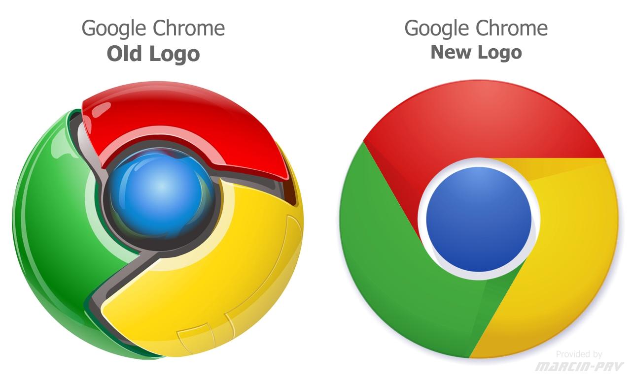 Google Chrome Old Logo V S New