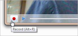 Windows Live Messenger: Record button