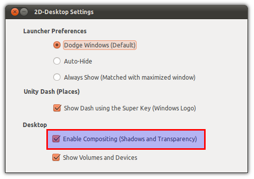How To Enable Transparency And Shadows In Unity 2D [Ubuntu