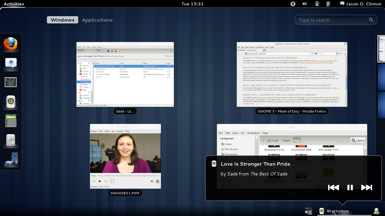 Applets and Dockbar in Gnome 3