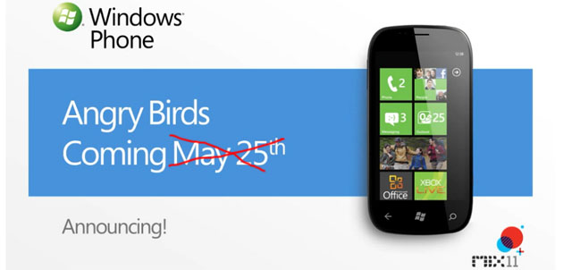 Angry Birds delayed for WP7