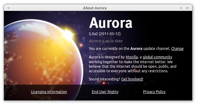 Firefox 5 Alpha 2 - Aurora on Ubuntu Linux