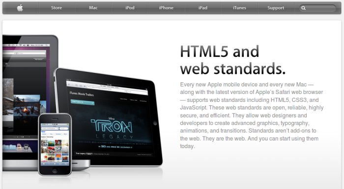 html5.com redirects to the HTML5 page on Apple.com