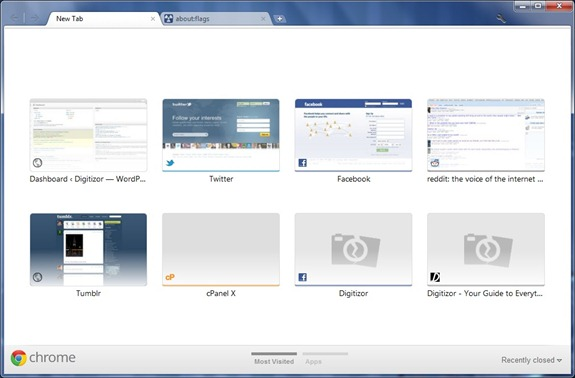 Activate / Get New Design For New Tab Page In Google Chrome