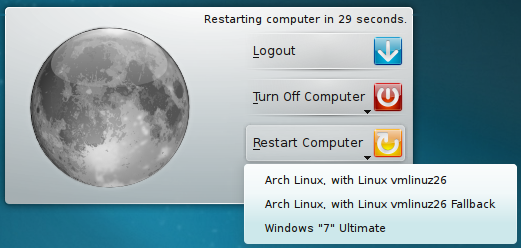 GRUB2 integration in KDE 4.7 is just awesome :-)