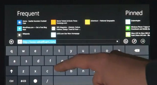 Windows 8: Touch Keyboard
