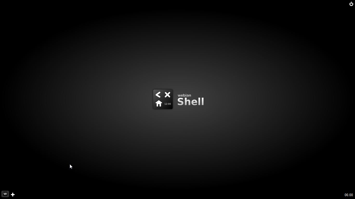 Webian Shell - Start Screen