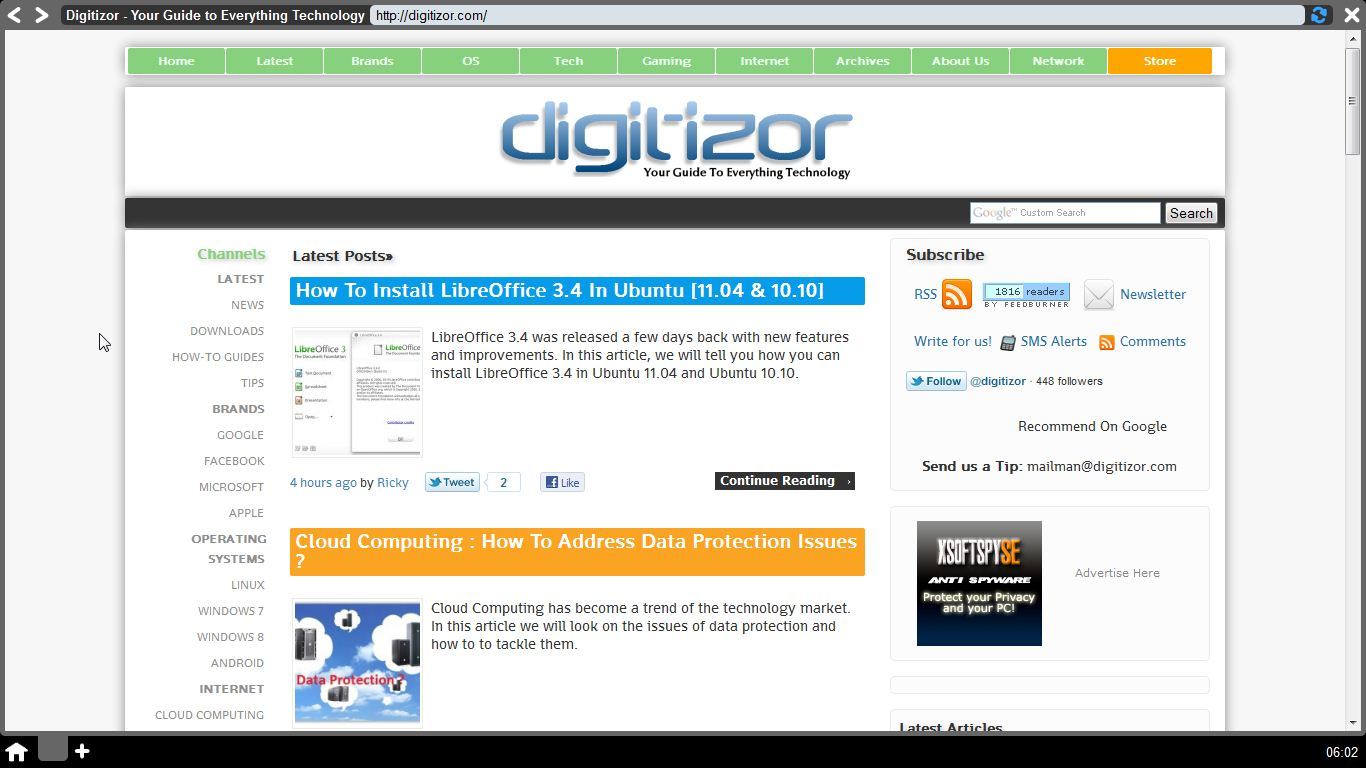 Webian Shell - Web Browser (digitizor.com)