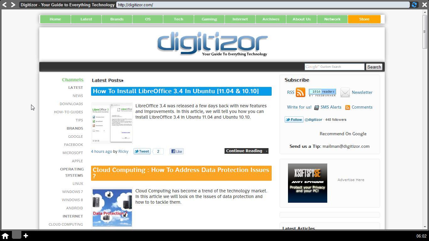 Webian Shell - Web Browser (digitizor.com)