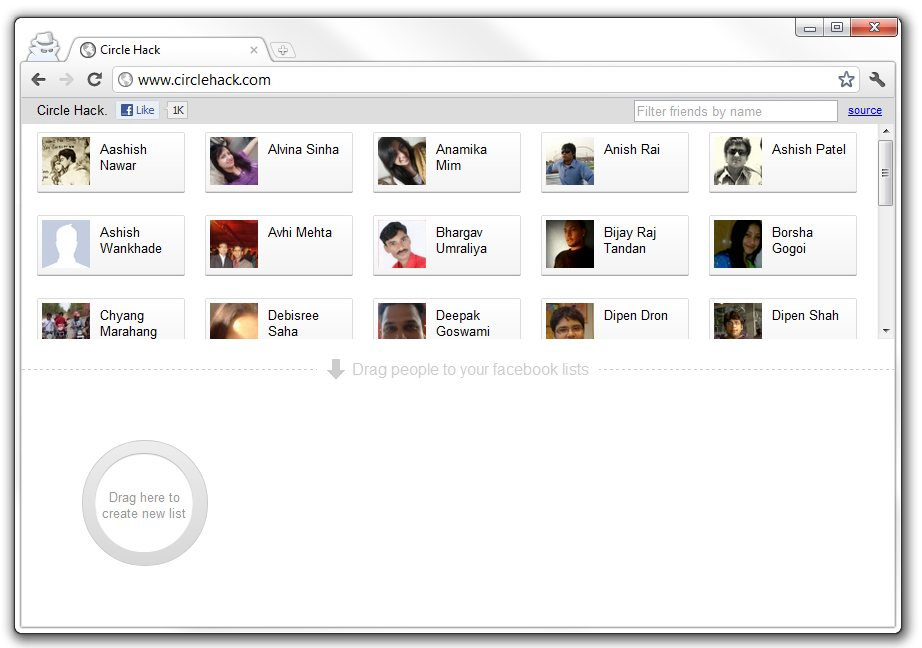 CircleHack - Google+ Circles in Facebook