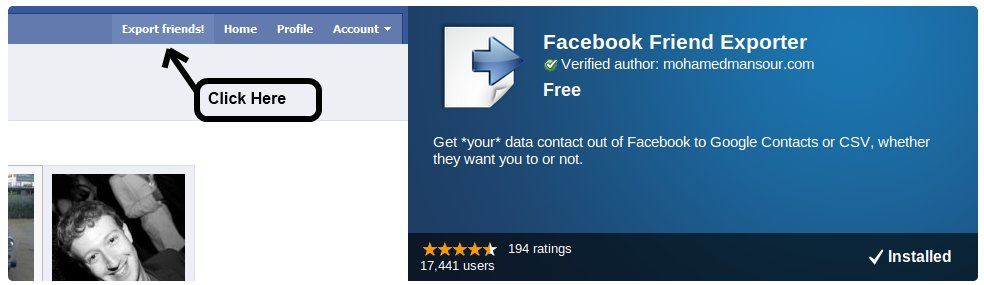 Facebook Friend Exporter - the app that has been blocked by Facebook