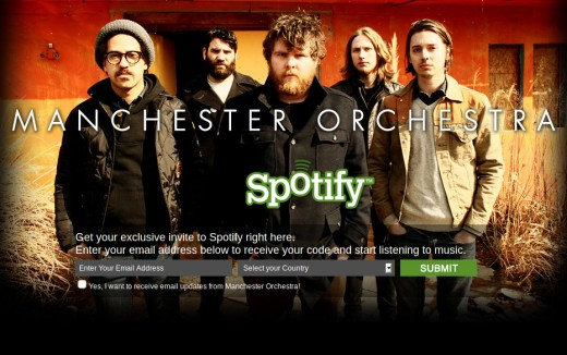 Manchester Orchestra offering free Spotify Invites