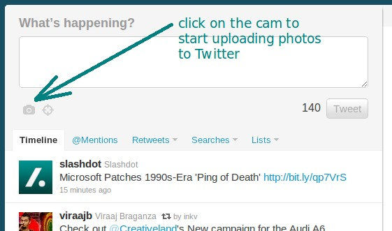 Twitter Photo Upload - Powered by Photobucket