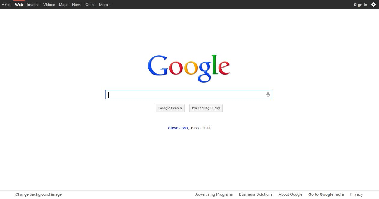 Google pays tribute to Apple CEO Steve Jobs
