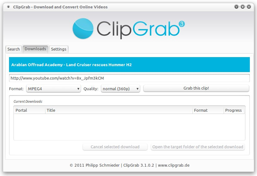 ClipGrab automatically grabs all information about the video corresponding to the entered URL