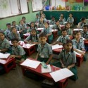 A traditional classroom in India
