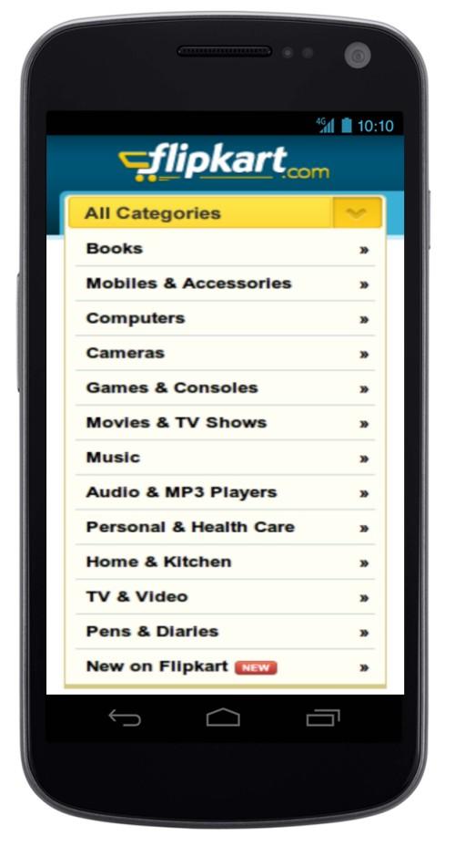 Flipkart Mobile App - Mockup